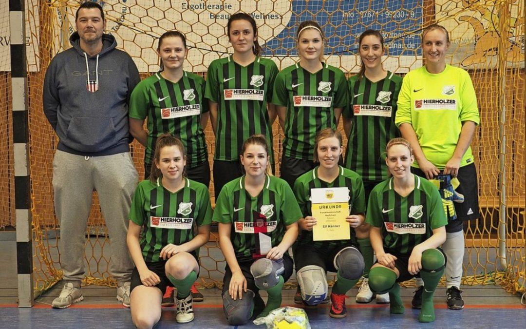 SV Hänner Damen bei der südbadischen Futsalmeisterschaft in Baden-Oos